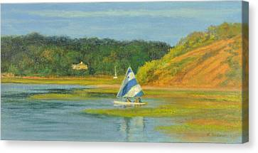 Pamet Harbor Early Evening Canvas Print by Phyllis Tarlow
