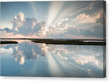 Pamlico Sound Obx Cape Hatteras National Seashore Canvas Print by Mark VanDyke