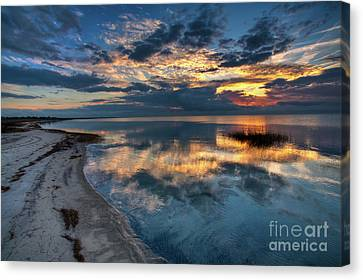 Pamlico Sound Sunset On The Outer Banks Canvas Print