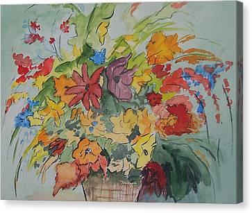 Pams Flowers Canvas Print by Robert Thomaston
