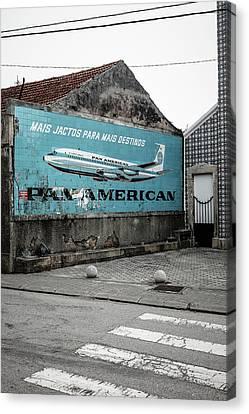 Pan American Vintage Ad II Canvas Print by Marco Oliveira