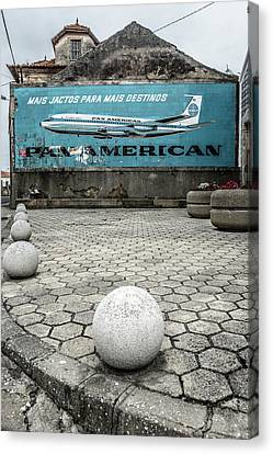 Pan American Vintage Ad Canvas Print by Marco Oliveira
