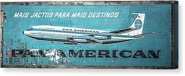 Pan American Vintage Ad V Canvas Print by Marco Oliveira