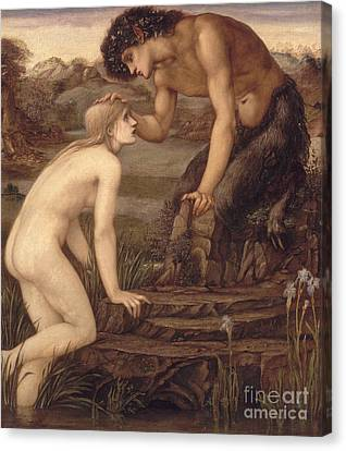 Pan And Psyche Canvas Print