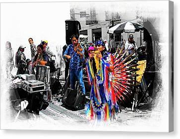 Pan Flutes In Cuenca Canvas Print by Al Bourassa
