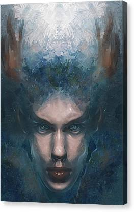 Pan Portrait Canvas Print by Damir Martic