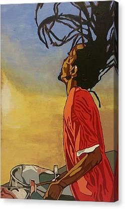 Pan Rising Canvas Print by Rachel Natalie Rawlins