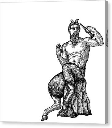 Pan Satyr Canvas Print by Karl Addison