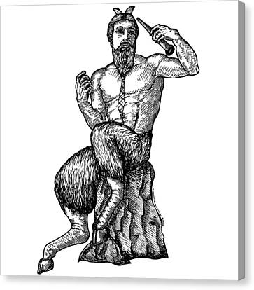 Pan Satyr With Tie Canvas Print