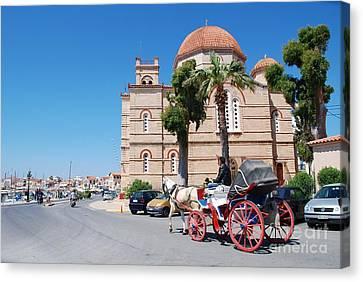 Panagitsa Church In Aegina Canvas Print