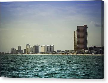 Panama City Beach Coastline 2 Canvas Print by Debra Forand