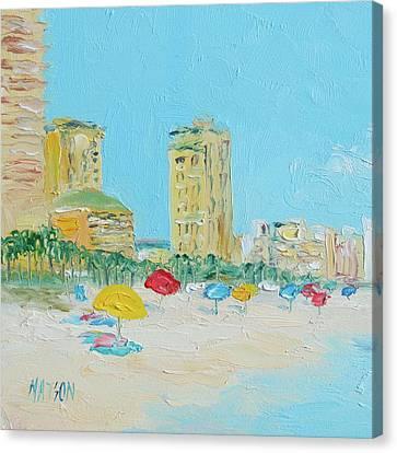 Panama City Beach Painting Canvas Print by Jan Matson