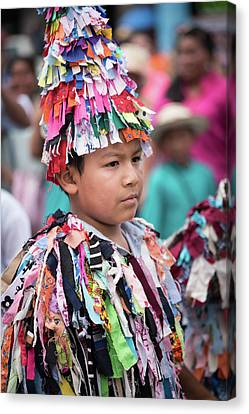 Panamanian Boy In Traditonal Costume Canvas Print