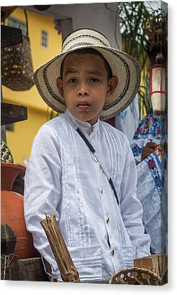 Panamanian Boy On Float In Parade Canvas Print