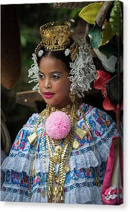 Panamanian Queen Of The Parade Canvas Print