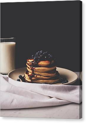 Pancakes For Breakfast Canvas Print by Happy Home Artistry