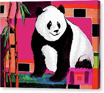 Panda Abstrack Color Vision  Canvas Print
