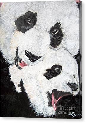 Panda And Baby Canvas Print