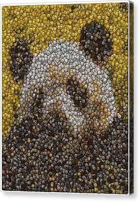 Canvas Print featuring the digital art Panda Coin Mosaic by Paul Van Scott
