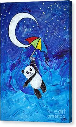 Panda Dreams Canvas Print by Ella Kaye Dickey