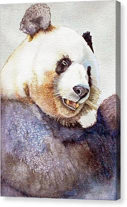 Panda Eating Canvas Print