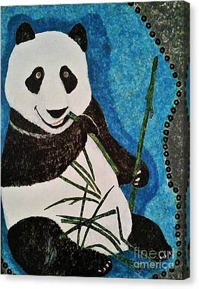 Canvas Print featuring the painting Panda by Jasna Gopic