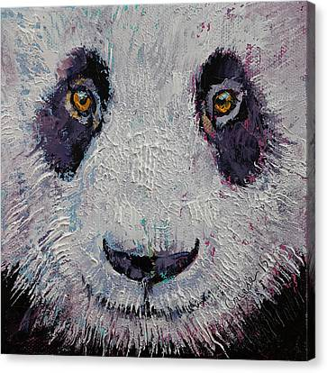 Panda Canvas Print by Michael Creese