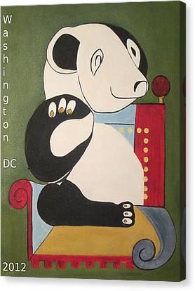 Panda Picasso Canvas Print