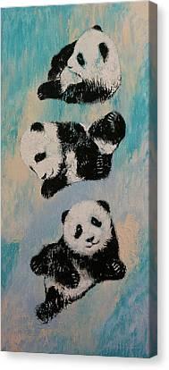 Panda Karate Canvas Print