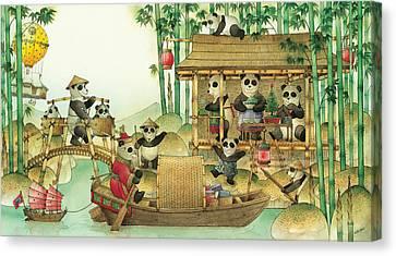 China Canvas Print - Pandabears Christmas 03 by Kestutis Kasparavicius