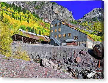 Canvas Print featuring the photograph Pandora Mill - Telluride - Colorful Colorado by Jason Politte