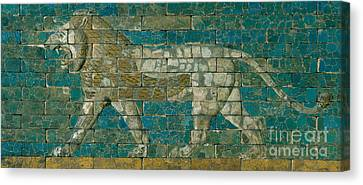 Panel With Striding Lion Canvas Print