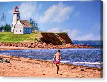 Panmure Head - Beach - Pei Canvas Print by Nikolyn McDonald