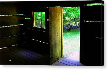 Pano Cabin Canvas Print by David Lee Thompson