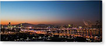 Night-scape Canvas Print - Panorama  by Hyuntae Kim