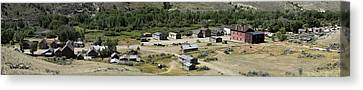 Panorama Of Bannack Montana Canvas Print by David Salter