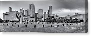 Panorama Of Dallas Skyline From City Hall - North Texas Canvas Print by Silvio Ligutti