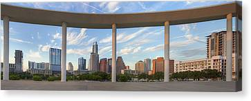 Panorama Of Downtown Austin Texas On A Summer Evening 1 Canvas Print