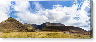 Canvas Print featuring the photograph Panorama Of Macgillycuddy's Reeks In County Kerry by Semmick Photo