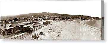 Watkins Panorama Of Monterey, California 1882 Canvas Print by California Views Mr Pat Hathaway Archives