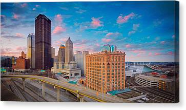 Panorama Of Pittsburgh  Canvas Print by Emmanuel Panagiotakis