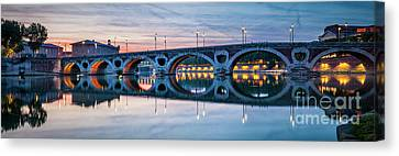 Canvas Print featuring the photograph Panorama Of Pont Neuf In Toulouse by Elena Elisseeva