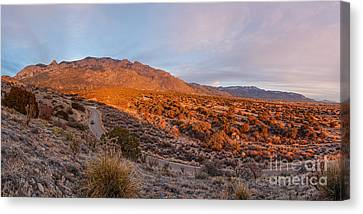 Panorama Of Sandia Mountains At Sunset - Albuquerque New Mexico Canvas Print