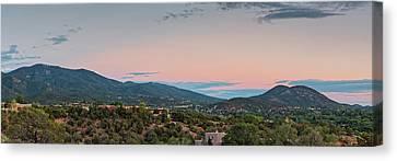 Martyr Canvas Print - Panorama Of Santa Fe Sangre De Cristo Mountains - New Mexico Land Of Enchantment by Silvio Ligutti