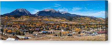 Panorama Of Silverthorne In The Fall - White River National Forest - Rocky Mountains - Colorado Canvas Print