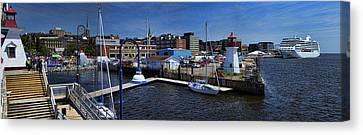 Panorama Of St. John New Brunswick Harbour Canvas Print by David Smith