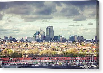 Canvas Print featuring the photograph panorama of the Hague modern city by Ariadna De Raadt