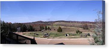 Panorama View At Arrington Vineyards Canvas Print by Marian Bell