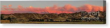 Panoramic Afterglow Canvas Print by Robert Bales