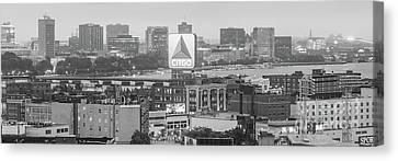 Fenway Canvas Print - Panoramic Boston Skyline Aerial Photo by Paul Velgos